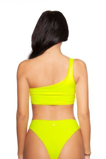 Neon Off-Shoulder Bikini Yellow