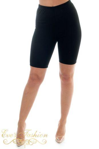 High Waist Cycling Shorts Black