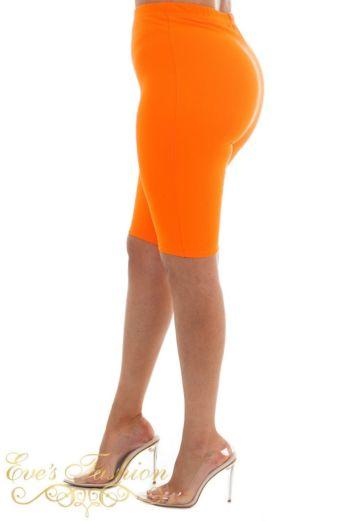 High Waist Cycling Shorts Orange