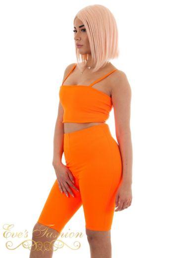 Strappy Crop Top Orange