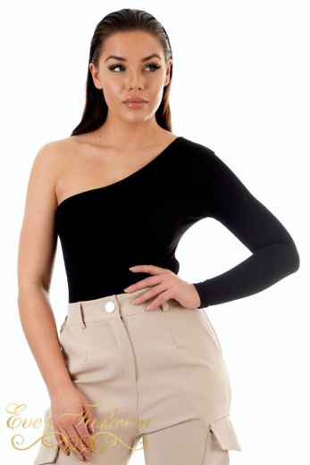 Off Shoulder Bodysuit Black