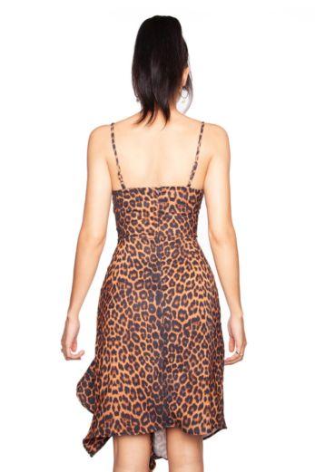 Leopard Draped Dress