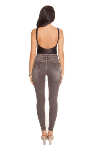 High Waisted Jeans Light Grey