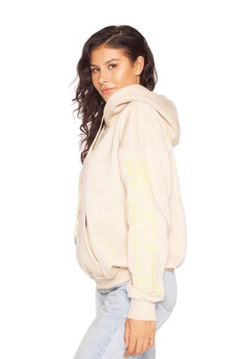 LA Sisters Nude Oversized Pocket Hoodie Front