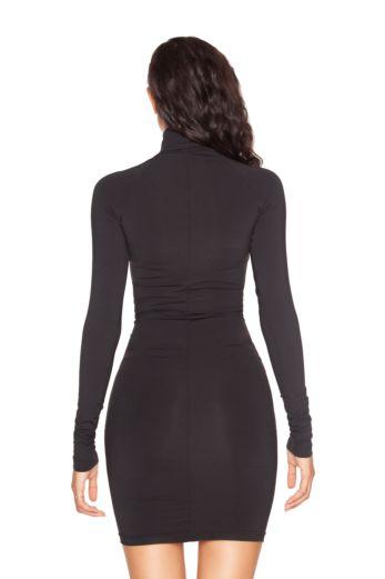 LA Zipper Dress Black