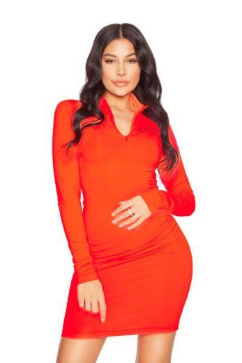LA Sisters LA Zipper Dress Red Front