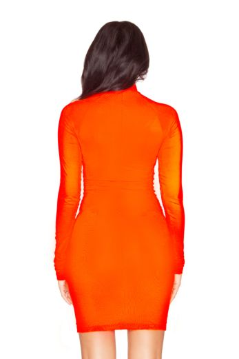 LA Zipper Dress Orange
