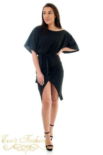 Amilia Tie Dress Black