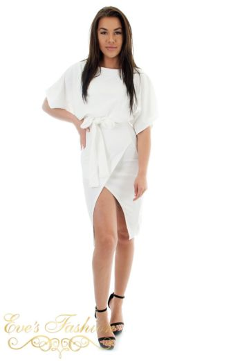 Amilia Tie Dress White