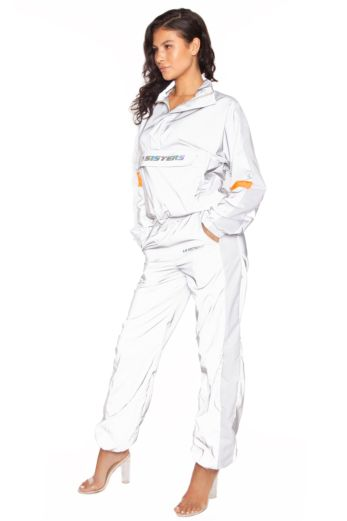 Hologram Shell Tracksuit Silver