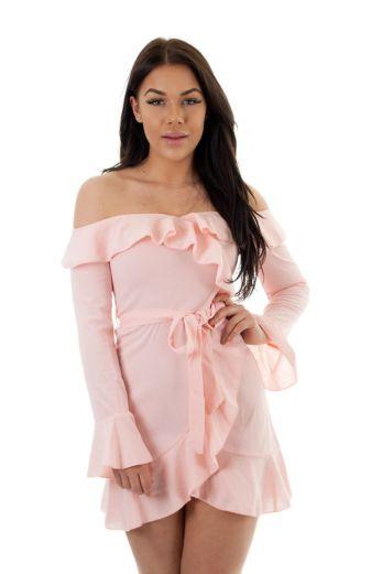 Mia Bandeau Dress Pink