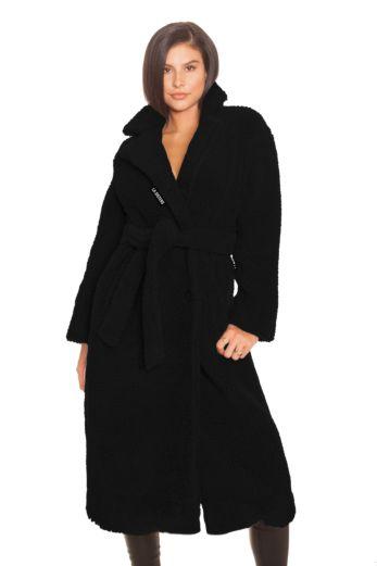 Teddy Coat Black