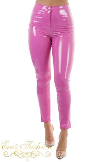 Vinyl Pants Neon Pink