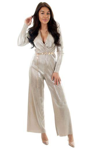 Selene Glam Jumpsuit Gold