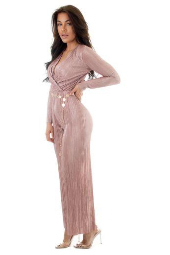 Selene Glam Jumpsuit Pink