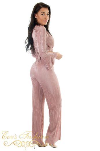 Selene Glam Flare Pants Pink