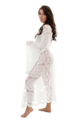 Luxury Lace Kimono White