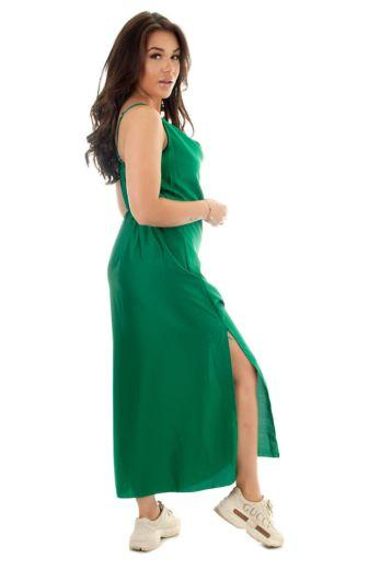 Sabrina Satin Dress Green