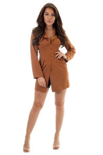 Nadia Corset Dress Brown