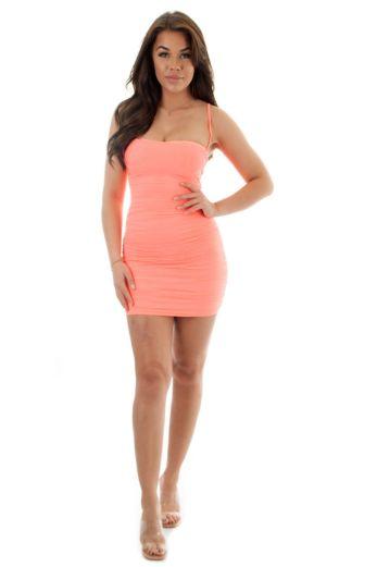 Marilon Mesh Dress Orange