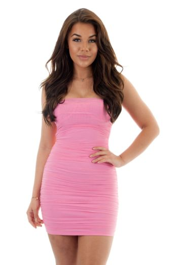 Eve Marilon Mesh Dress Lila Close