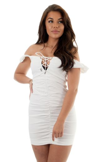 Noelle Pencil Dress White