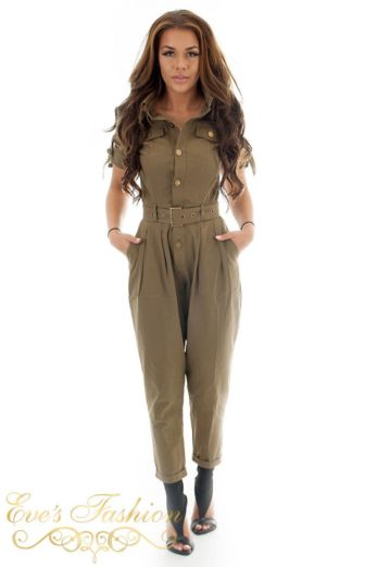 RUNAWAY - Work It Jumpsuit Khaki