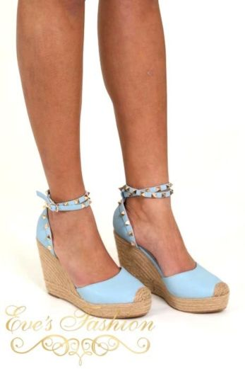 Valentina Wedges Blue