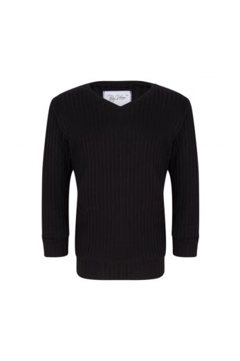 By Veer Kids V-Neck Sweater Black Front