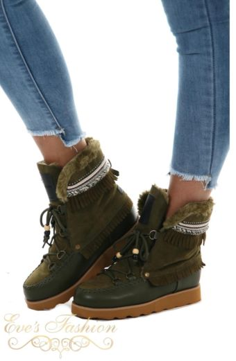 Jacky Luxury - Winter Boots Army