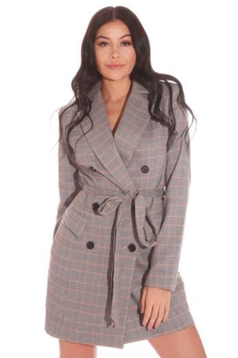 LA Sisters Prince de Galles Blazer Dress Front