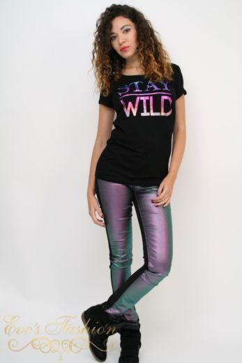 Stay Wild T Black