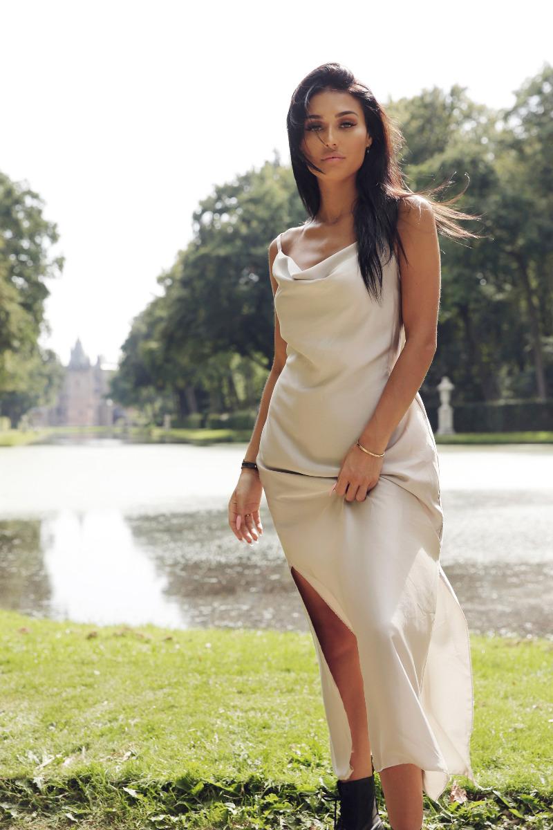 Sabrina Satin Dress